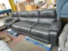 Pulaski leather 5 piece sofa with armrest and recliner, missing corner part but is still