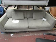 | 1X | MADE.COM 3 SEATER SOFA FABRIC | SOME OF THE MATERIAL HAS MARKS BUT VERY MINOR, INCLUDES