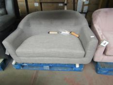 | 1X | MADE.COM GREY TUBBY LOVESEAT | NO MAJOR DAMAGE AND INCLUDES FEET | RRP £399 |