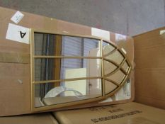 | 1X | COX & COX SMALL GOLD GOTHIC MIRROR | LOOKS IN GOOD CONDITION & BOXED | RRP œ50 |