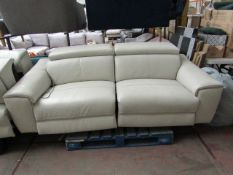 Nicoletti 3 seater leather sofa, may have marks and scuffs but noting too major.