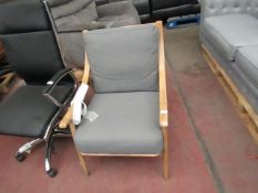 | 1X | COX AND COX WOOD AND FABRIC ARMCHAIR | NO MAJOR DAMAGE | RRP - |