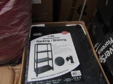 Asab - 4-Tier Heavy Duty Plastic Racking / Shelving ( 131 x 60 x 30cm ) - Unused & Boxed.