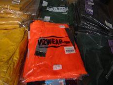 3x Vizwear - Hi-Vis Orange Polycotton Shorts - Size 3XL - Unused & Packaged.