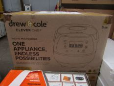   1X   DREW & COLE CLEVER CHEF 5L CHROME DIGITAL MULTICOOKER   UNCHECKED & BOXED   NO ONLINE