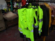 NRC - 3M Scotchlite Reflective Material Hi-Vis Yellow Work Trousers - Size XL - Unused.