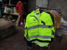 L.Brador - 3M Scotchlite Reflective Material Hi-Vis Yellow Work Jacket With Utility Pockets - Size