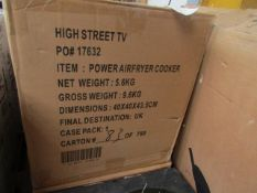   1X   POWER AIR FRYER COOKER 5.7LTR   UNCHECKED & BOXED   NO ONLINE RESALE   SKU -   RRP £149.