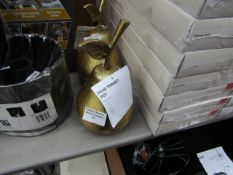 B&Q - Brass Effect Pear Trinket Pot - Unused, No Packaging.