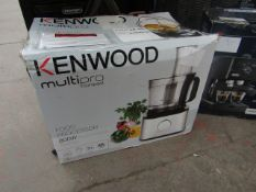 KENWOOD - MultiPro Compact FDM312.SS With 12 Accessories - Silver - Tested Working & Boxed. RRP £