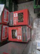 8x packs of Multipurpose Wood Screws - 3.0x25mm - 200 per pack - New & Boxed