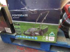 Powerbase 32cm 1200W Electric Rotary Lawn Mower - Untested & Boxed
