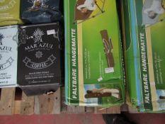 Adventuridge - Foldable Hammock, Brown - Unchecked & Boxed - Size 272 x 75 x 68cm.