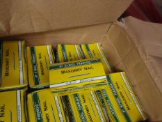 8x Ip Steel Fixings - Masonry Nail's (3.0 X 60mm) Boxes Of 100 - Unused & Boxed.