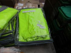 2x Unbranded - Hi-Vis Green Work Trousers - Size XL - Unused & Packaged.