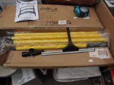 Oypla Home - Extendable 3.5m Window Cleaning Squeegee Mop Wash Wipe Cleaner - Boxed.
