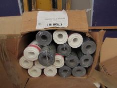 Box of Assorted WallPaper Rolls - Colour/Design/ Roll Length May Differ - All Appear to Look Unused,