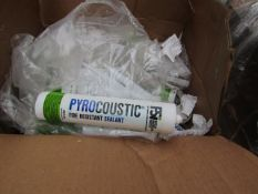 6x FSI - Pyrocoustic Fire Resistant Sealant - 310ml Tubes - Unused.