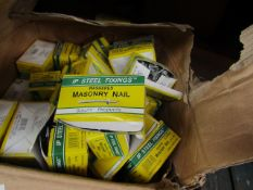 8x IP Steel Fixings - Washered Masonry Nail's (3.7 X 35mm) Boxes Of 100 - Unused & Boxed.