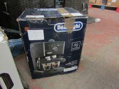 DELONGHI - Espresso Coffee Machine ( Perfect Cappuccino ) - EC146.B - Black - Item Powers On,