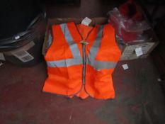 1x Orange Hi Vis Jacket - L - New & Packaged