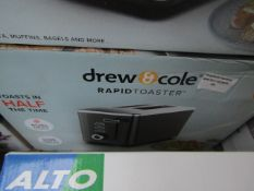   1x   DREW& COLE BRUSHED CHROME RAPID 2 SLICE TOASTER   UNCHECKED & BOXED   NO ONLINE RESALE  