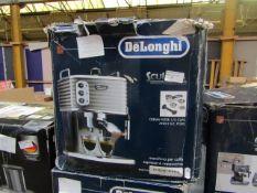 DELONGHI - Scultura Traditional Barista Pump Espresso Machine, Coffee and Cappuccino Maker, ECZ351BG