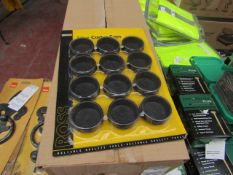 8x Rosstools - 12Pc Castor Cups - Unused & Packaged.