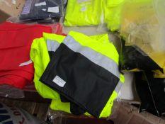 L.Brador - Scotchlite 3M Material Hi-Vis Yellow Bib' N Brace - Size XL - Unused & Packaged.
