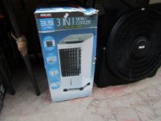 Arlec - 3-IN-1 Mobile Cooler, Fan & Humidier - 3.5 Litre - Untested & Boxed.