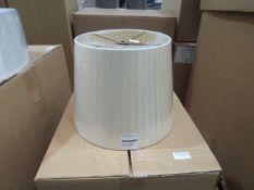 Chelsom Pleated 30cm shade, Galaxy Tapioca, new