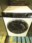 Haier HW100-B14979 direct motion washing machine, powers on and spins very quietly, we have not