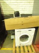2x Prima Items being a Curved glass 90cm extractor unit, unchecked nad intergrated washing machine