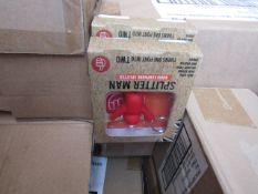 Box of 24x Splitter man Key Rings, enables aux cable to be shared into a device while being store on