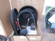 Jabra evolve 75 head set, unchecked and boxed, RRP £179