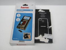 2x Items being; Hama cassette adaptor and a Fairphone protective cover, unchecked.