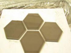 10x Packs of 50 150x173 Savoy Caraway Gloss Hexagon SAV04A, AAH150SAV04A050, brand new.RRP £50 a