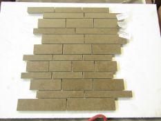 10x Boxes of 13 Gemini Young Stone Brick Mocha (ZI1676QQ1) 300 x 300 tiles, brand new.RRP £23.50 a