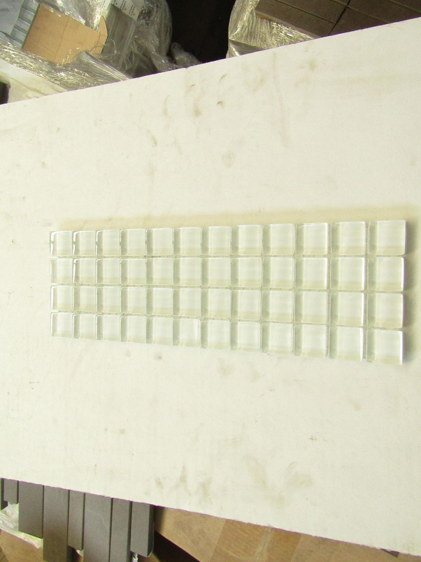 10x Packs of 10 Gemini Crystal 2 Mosaic White (Sheet 306x102mm), brand new and boxed.RRP £104 per