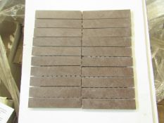 10x Boxes of 8 Vitra Sahara Mocha Mosaic 300 x 150 (in sheets of 300x300, brand new. Total RRP £88