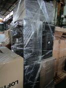 | 1x | PALLET OF APPROX 5 LEATHER STYLE AREM CJHAIRS | ALL WITH MINOR DAMGES SUCH AS SCSUFFS OR
