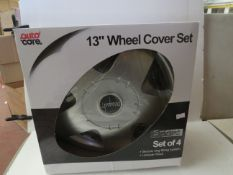 """Autocare Box of 4x 13"""" Wheel Cover Set in Lacquer Finish - New & Boxed."""