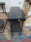   1X   COX & COX BLACK IRON CONSOLE TABLE, UNCHECKED AND BOXED   RRP £275  