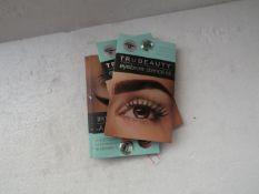 Approx 30x Tru Beauty Eyebrow Stencil Kit - New & Sealed