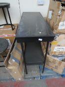   1X   COX & COX BLACK IRON CONSOLE UNIT, DECENT CONDITION AND NO BOX   RRP £275  