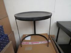   1X   COX & COX NEST TABLE, BLACK, UNCHECKED AND BOXED   RRP WHEN SET OF 2 £350  