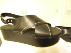 L K Bennett London Sima Black Veg Leather Shoes size 36 RRP £250 new & boxed see image for design