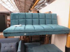 1 x Made.com Hallie Click Clack Sofabed Tuscan Teal Velvet with Brass Legs RRP œ299 SKU MAD-AP-