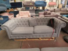 Costco Button Back 3 seater sofa with feet, no major damage.