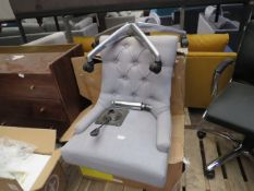 1 x Made.com Flynn Office Chair Persian Grey RRP £169 SKU MAD-CHAFLN066GRY-UK TOTAL RRP £169